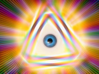 aura - oeil qui voit des couleurs de l'aura